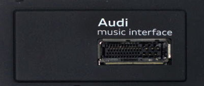 Audi example of the Music Interface where the AMI / MMI cable connects to.