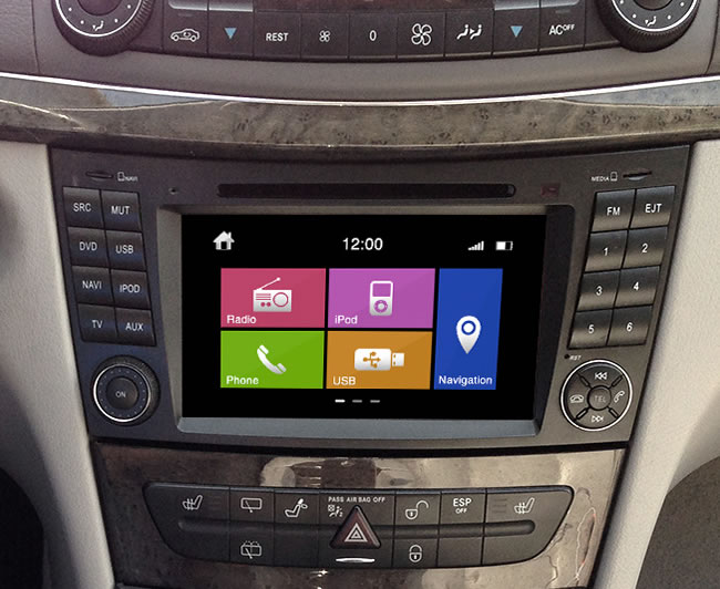 Dynavin Mercedes Benz E Class and CLS Navigation Upgrade System