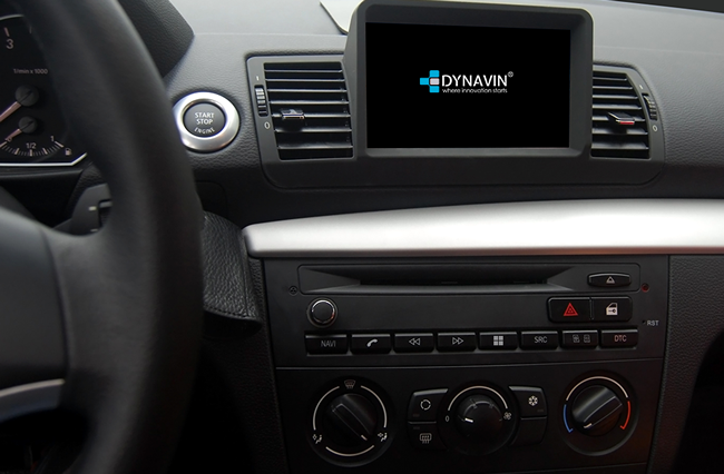 Example of the Dynavin N7 BMW E8X installed - installation not included.