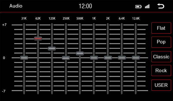 Equaliser screen example.