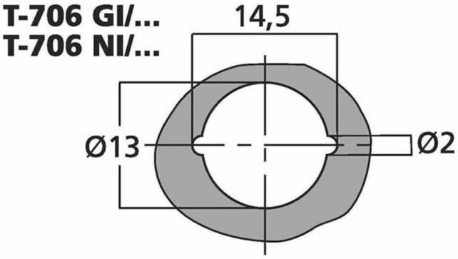 T-706GI RCA mounting hole measurements mm (approx.)