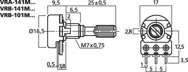 soundlabs group rotary pot mono 50k ohm rh soundlabsgroup com au