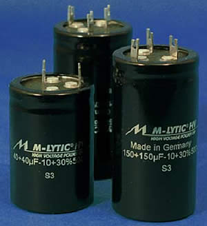 Mundorf MLytic High Voltage Capacitors - click for more...