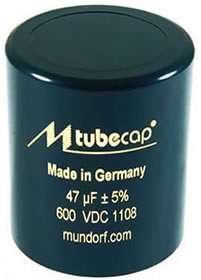 Mundorf Polypropylene Tubecap Capacitors - Click for more...