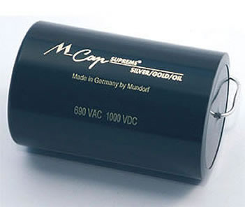 Mundorf Supreme Silver Gold Oil Capacitor ... click for more.