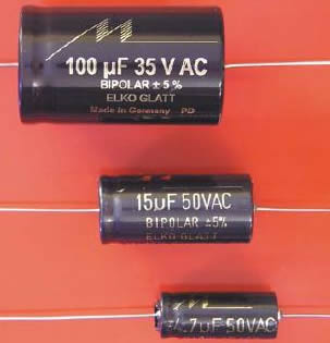 Mundorf Bipolar Audio Electrolytic Capacitors - click for more.