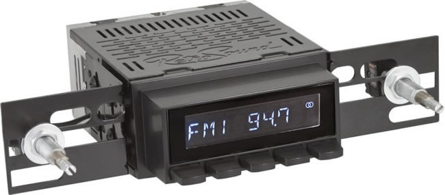 Retro Sound Laguna base car radio body excluding optional knobs & trims - black.