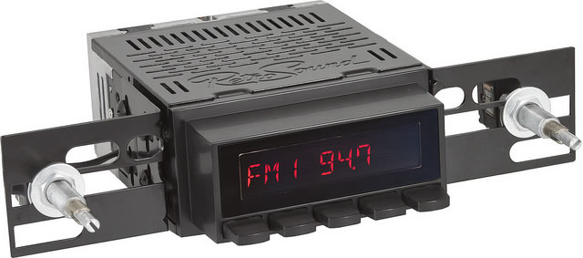 Retro Sound San Diego Radio, showing base unit with black buttons and black trim.