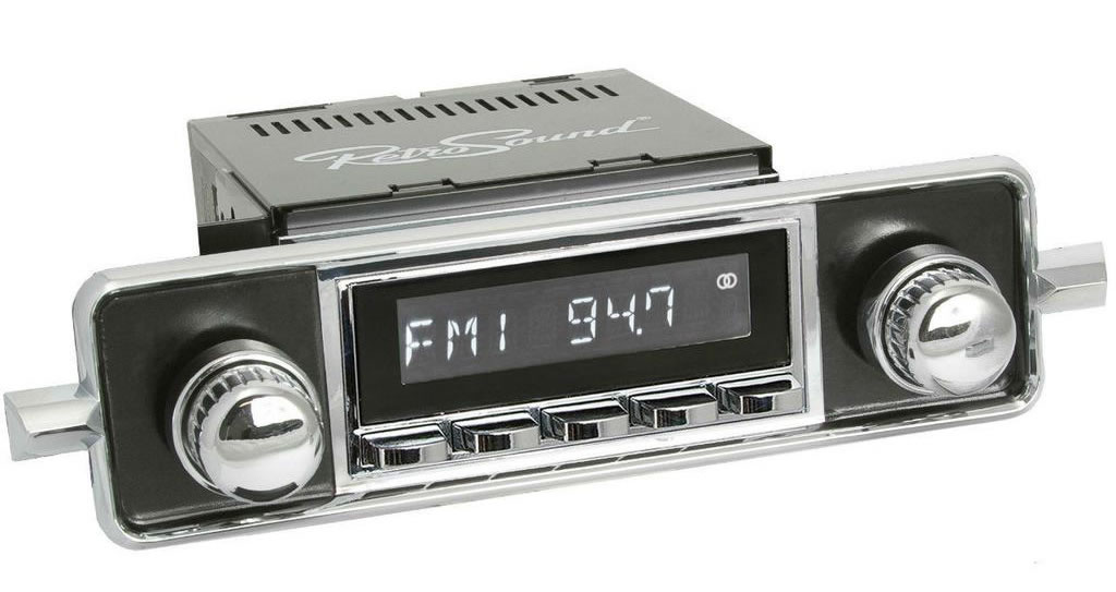 Retro Sound example 1968-1985 VW Radio Sapphire look radio.