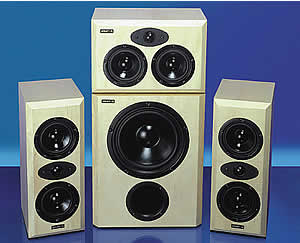 An example of a Visaton home cinema speaker kit completed.